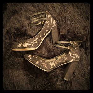 kate spade new york lace block heels